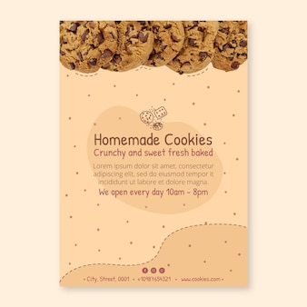 Delicious cookies vertical flyer template