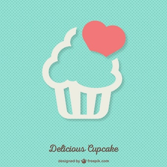 Delicious cupcake background