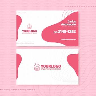 Шаблон визитной карточки вкусный кекс