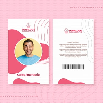 Delicious cupcake id card template