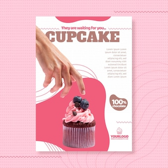 Шаблон плаката вкусный кекс