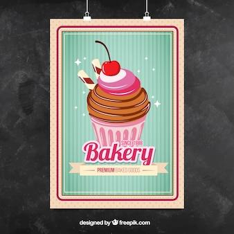 Delicious cupcake poster