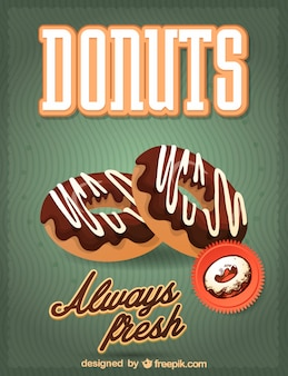 Delicious donuts with chocolate