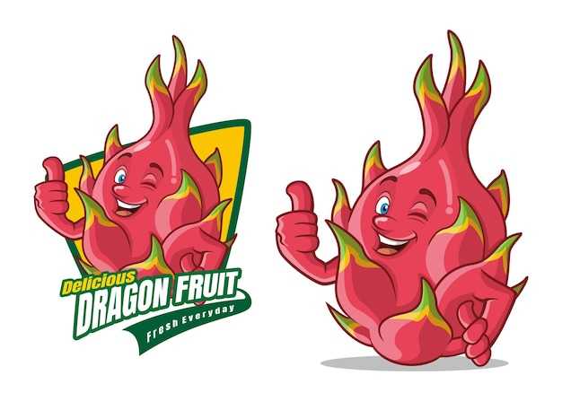 Delicious dragon fruit character