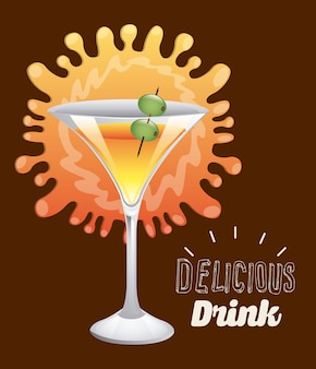 Delicious drink design, vector illustration eps10 graphic