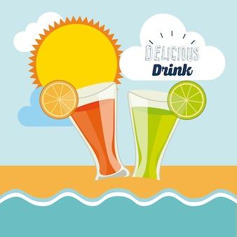 Дизайн восхитительного напитка, векторные иллюстрации eps10 graphic