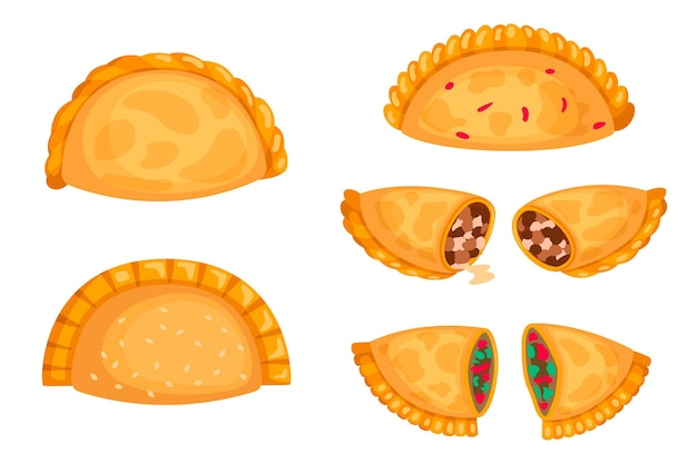 Delicious empanada collection