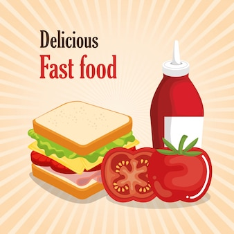Delicious fast food menu