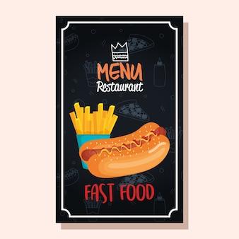Вкусная фаст-фуд меню меню ресторана