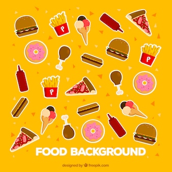 Delicious food background