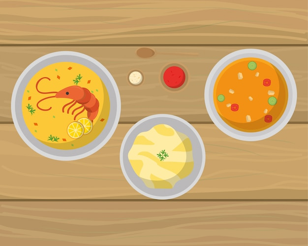 Delicious food cartoon