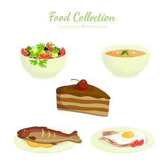 Raccolta alimentare delicious Vettore gratuito