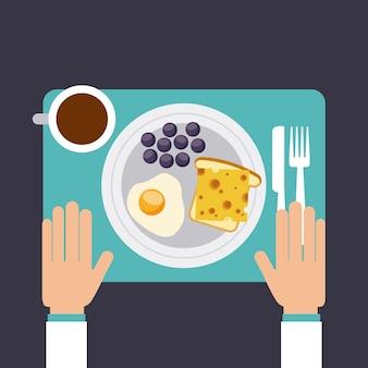Delicious food dish menu icon