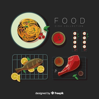 Delicious food dish pack