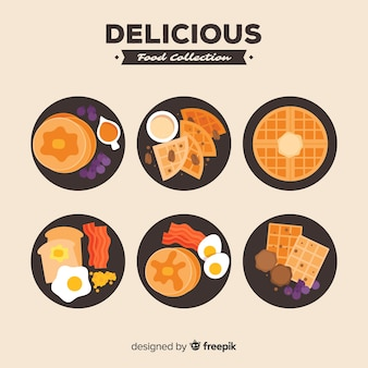 Delicious food dishes pack