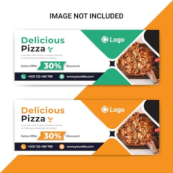 Delicious food facebook cover banner template for restaurant