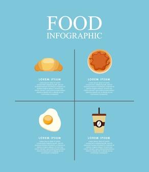 おいしい料理のインフォグラフィックセットのアイコン