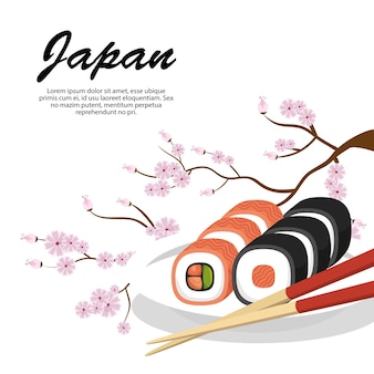 Delicious food japanese icon