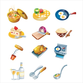 Delicious food vector home made