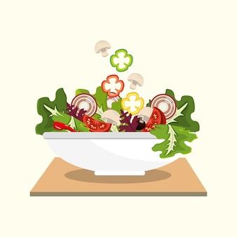 맛있는 신선한 야채 샐러드