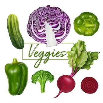 Delicious fresh veggies