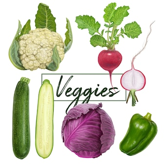 Delicious fresh veggies