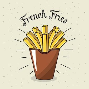 Вкусная жареная французская фаст-фуд