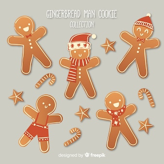 Delicious gingerbread cookie collection