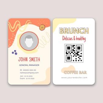 Banner brunch delizioso e sano