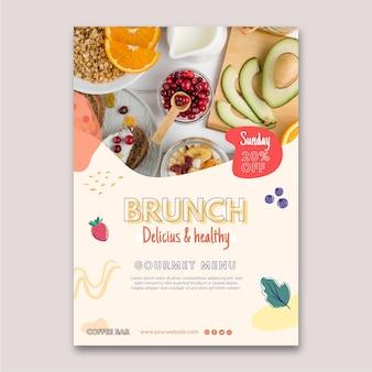 Poster di brunch delizioso e salutare