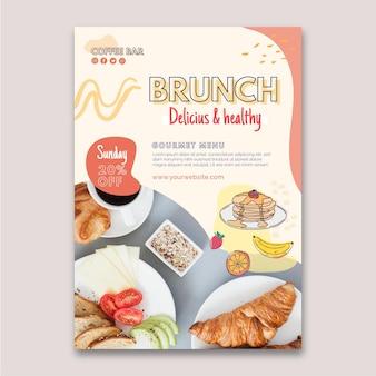 Volantino verticale delizioso e salutare per il brunch