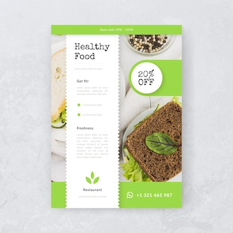 Delicious healthy food restaurant poster with picture