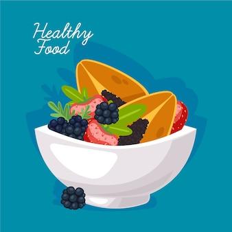 Delicious healthy fruity dish