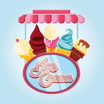 Delicious ice cream cones