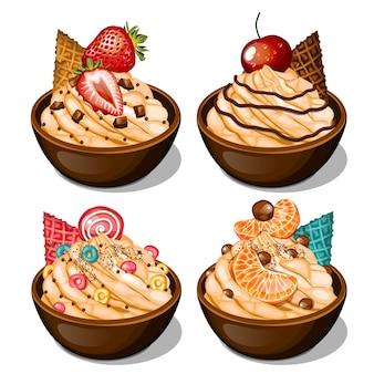 Вкусное мороженое с начинкой