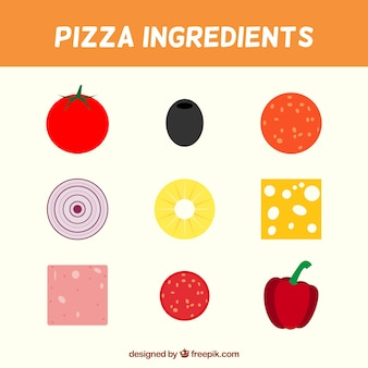 Delicious ingredients for pizza
