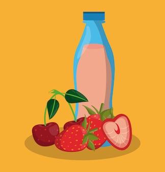 Delicious juice bottle