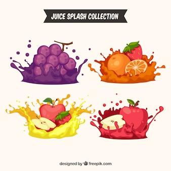 おいしいジュースは、果物とコレクションを飛ぶ