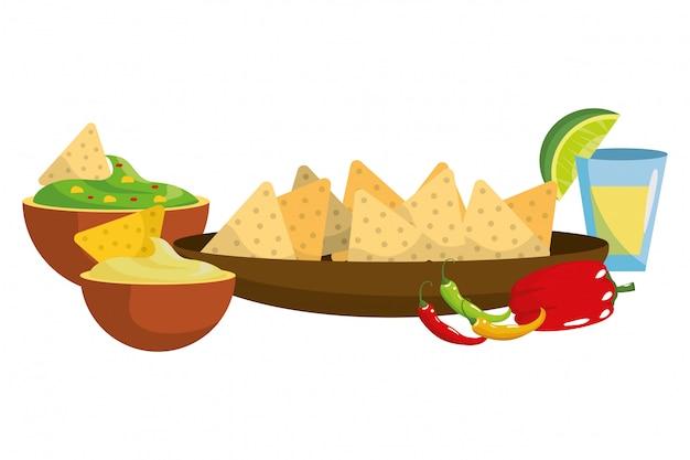 Delicious mexican food cartoon