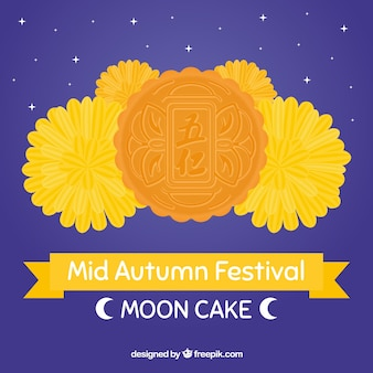 Delicious moon cake of mid autumn festival