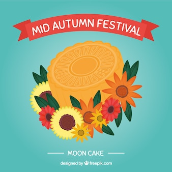 Delicious moon cake of mid autumn festival