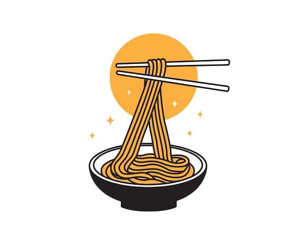 お箸で丼に美味しい麺