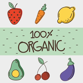 Вкусные органные фрукты и овощи