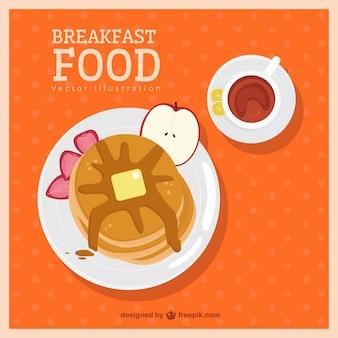 朝食においしいパンケーキ