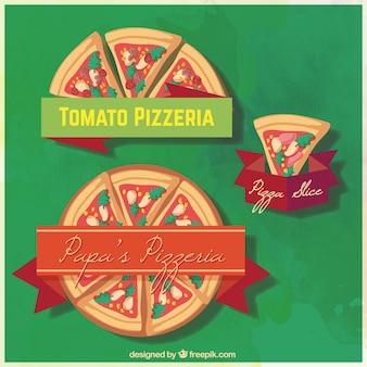 Delicious pieces of pizza