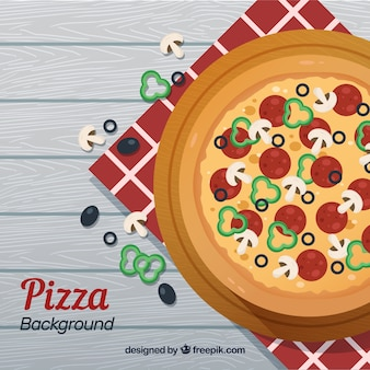 Вкусный фон пиццы