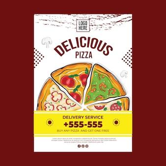 Delicious pizza concept