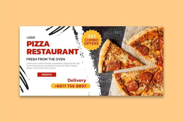 Delicious pizza restaurant banner