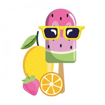 Delicious popsicle cartoon