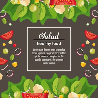 Delicious salad healthy food banner